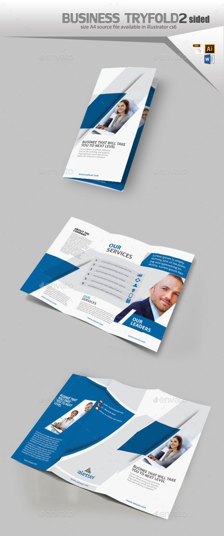 corporate three fold brochure template vector eps ai illustrator