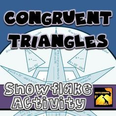 Congruent Triangles: Winter Snowflake | geometry | Pinterest