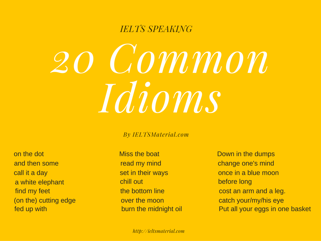 Using idioms in essay writing