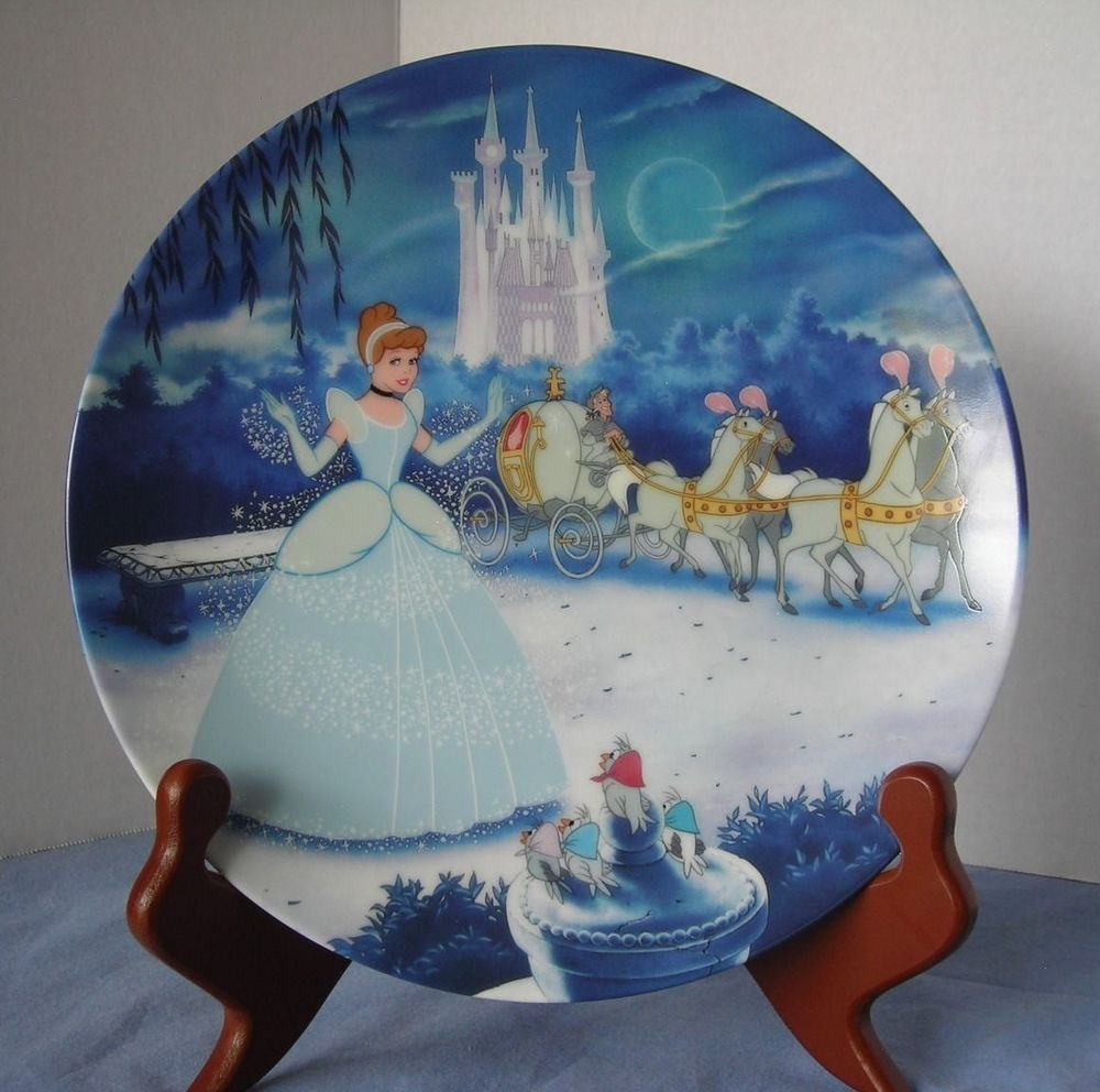 Disney Knowles Cinderella First Collector Plate, Disney Treasured ...