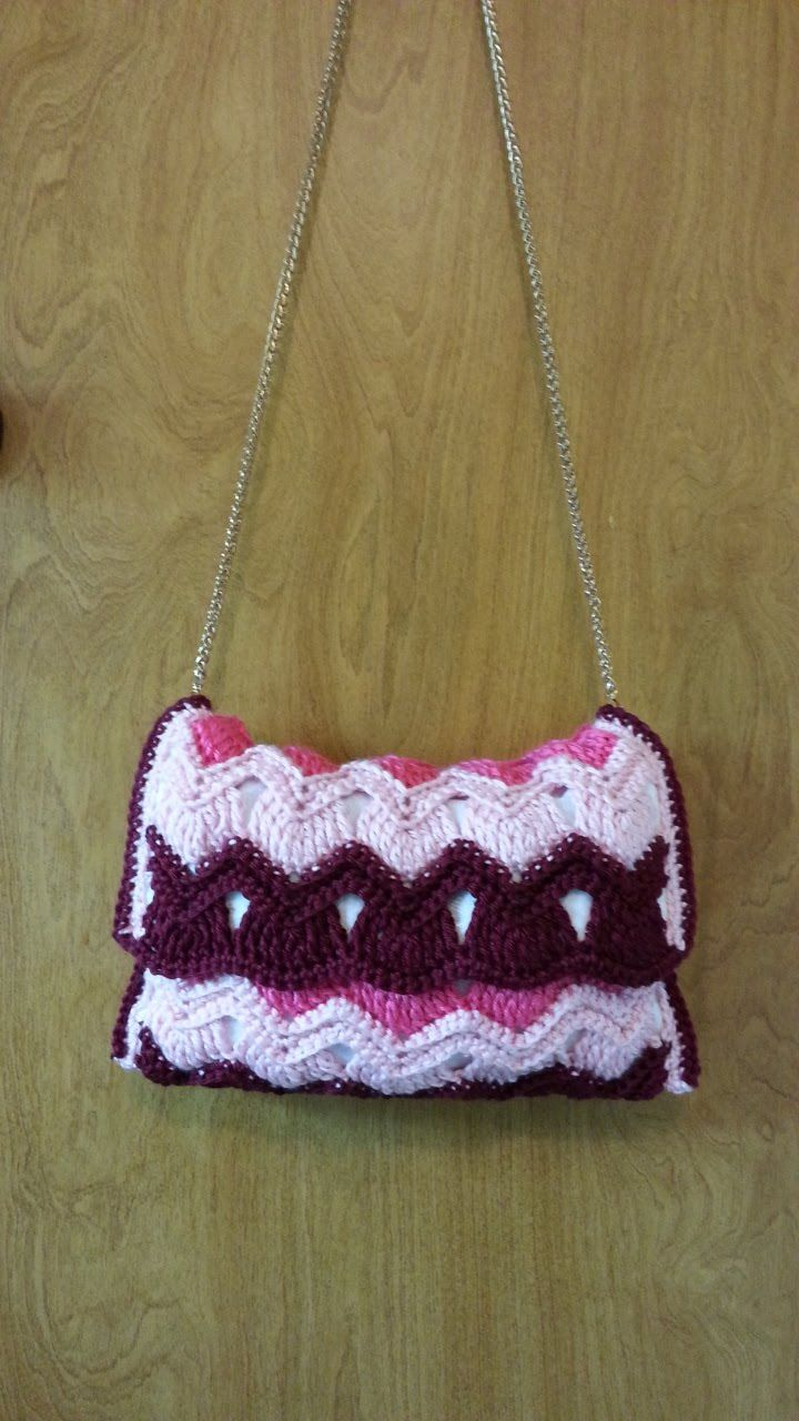 Crochet Vintage Ripple Stitch Handbag Purse #TUTORIAL | bolsos ...
