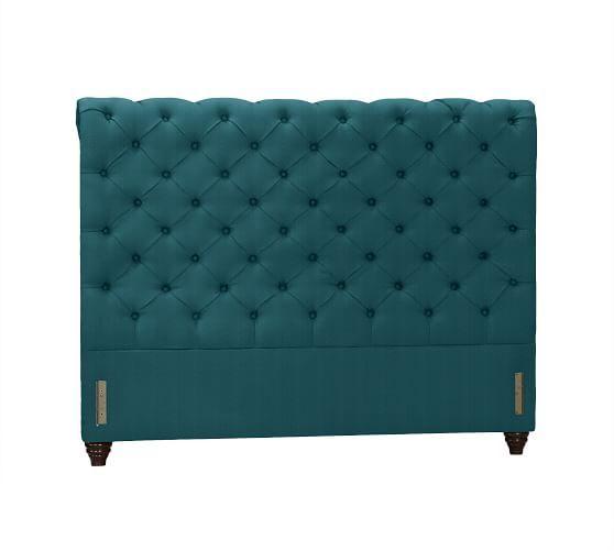 Chesterfield Upholstered Headboard & Storage Platform Bed