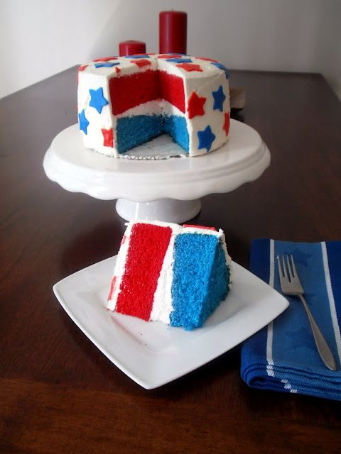 The Busty Baker: Red White and Blue #Cake #recipe