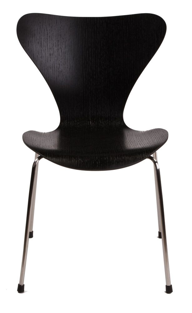 Replica arne jacobsen series 7 black tavolo pranzo for Replica mobili design
