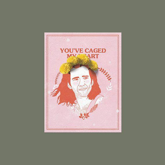 Nicolas Cage Cameron Poe Funny Love Card Geeky Anniversary