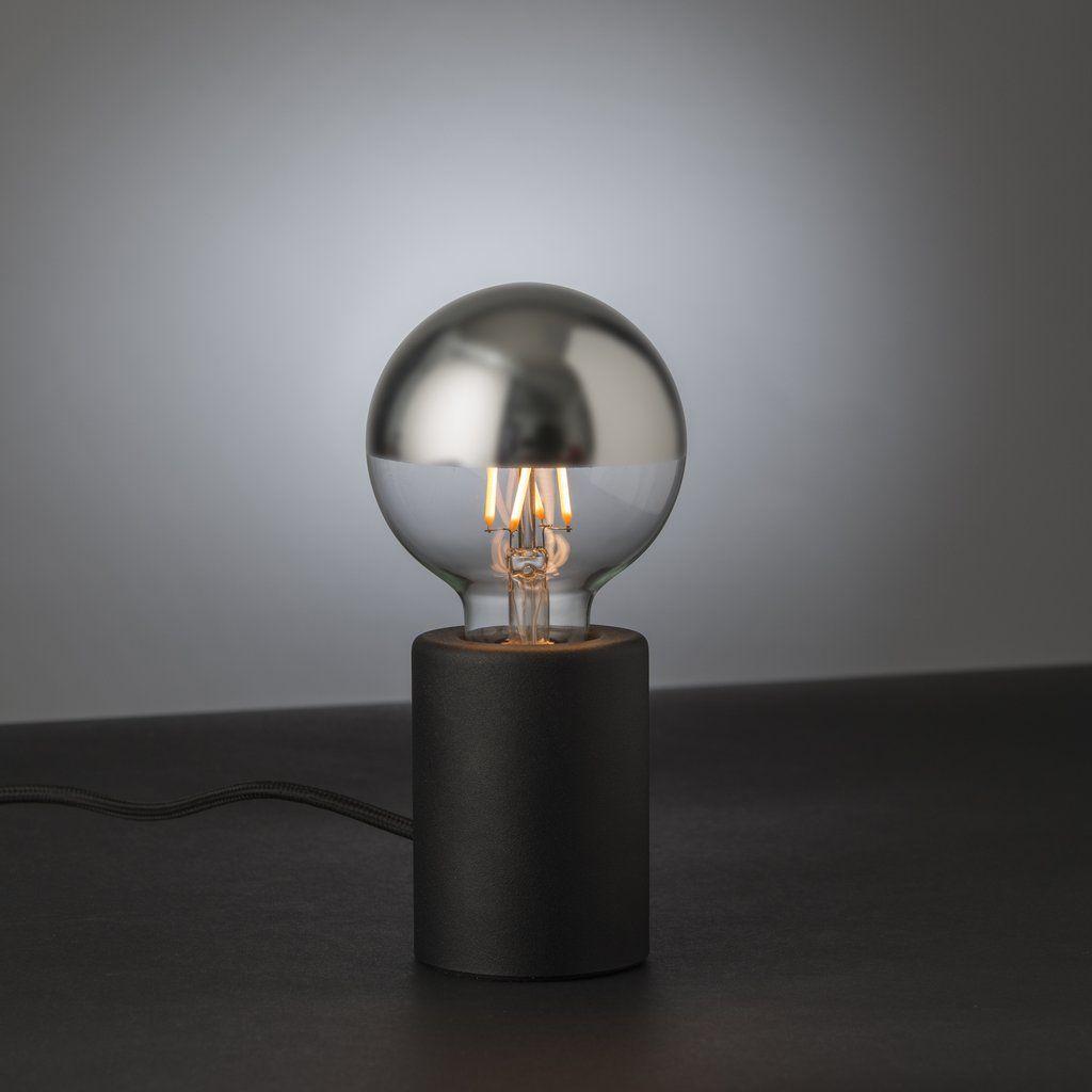 Tischlampe Tischleuchte Mit Touch Dimmer Farbe Schwarz Material Metall Kabel Textilummantelt Abmessungen Breite 95mm Ho Lampe Tischlampen Led Leuchtmittel