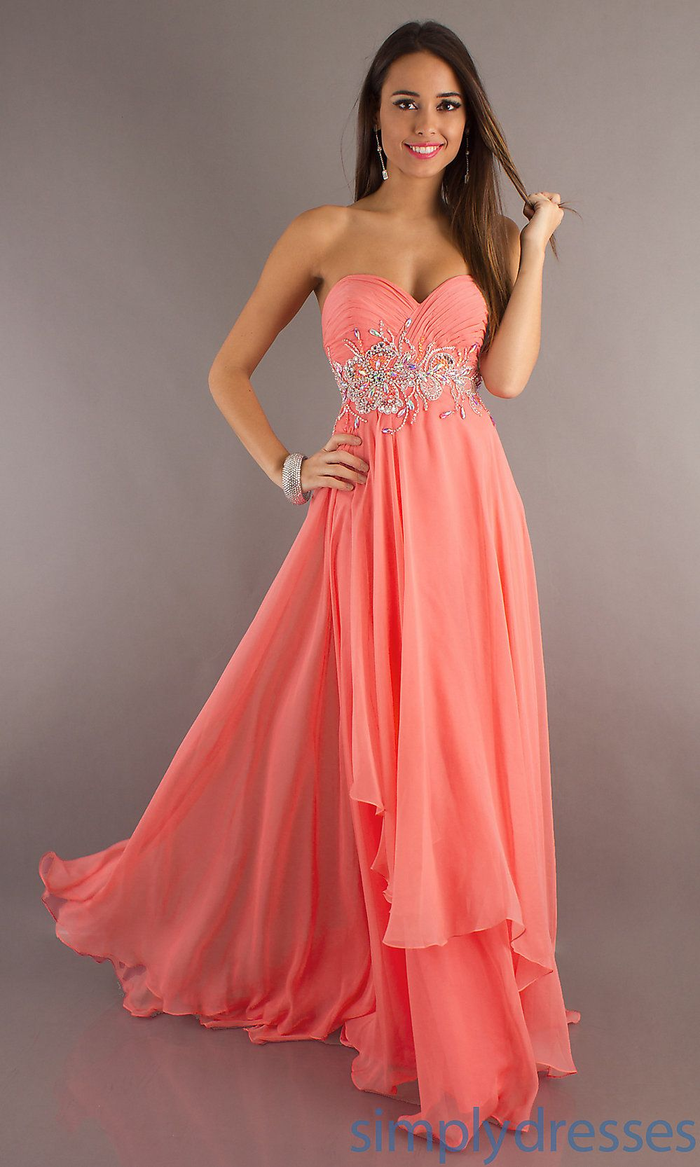 Peach Colored Prom Dresses