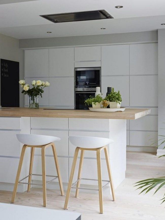 11 fotos de decoraci n de cocinas blancas deco sillas - Taburete barra cocina ...