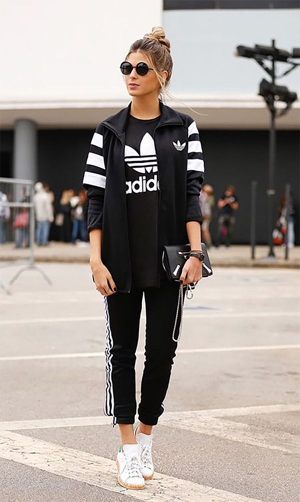 Theyre all wearing: calça jogging | Looks adidas, Roupas