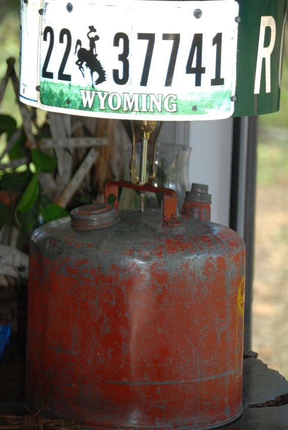 Rat Rod Vintage Gas Can Lamp Upcycle by CatkinsCreations on Etsy