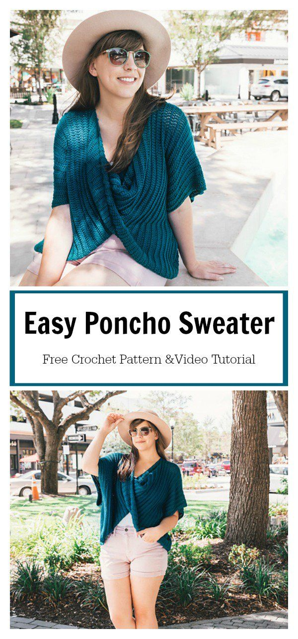 Easy Twist Poncho Sweater Free Crochet Pattern and Video Tutorial ...