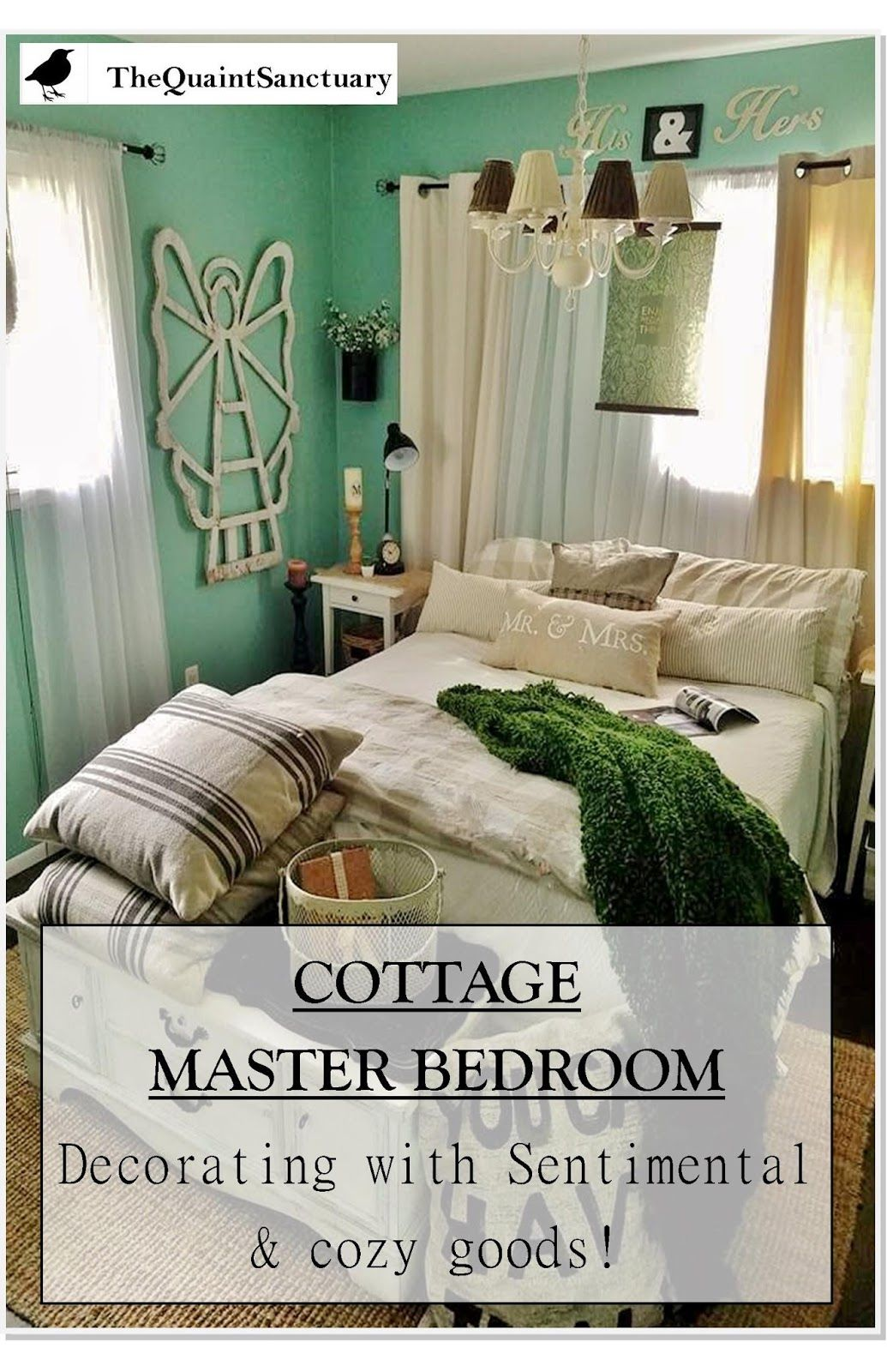 The Quaint Sanctuary: { Comfy Cottage Master Bedroom Update with