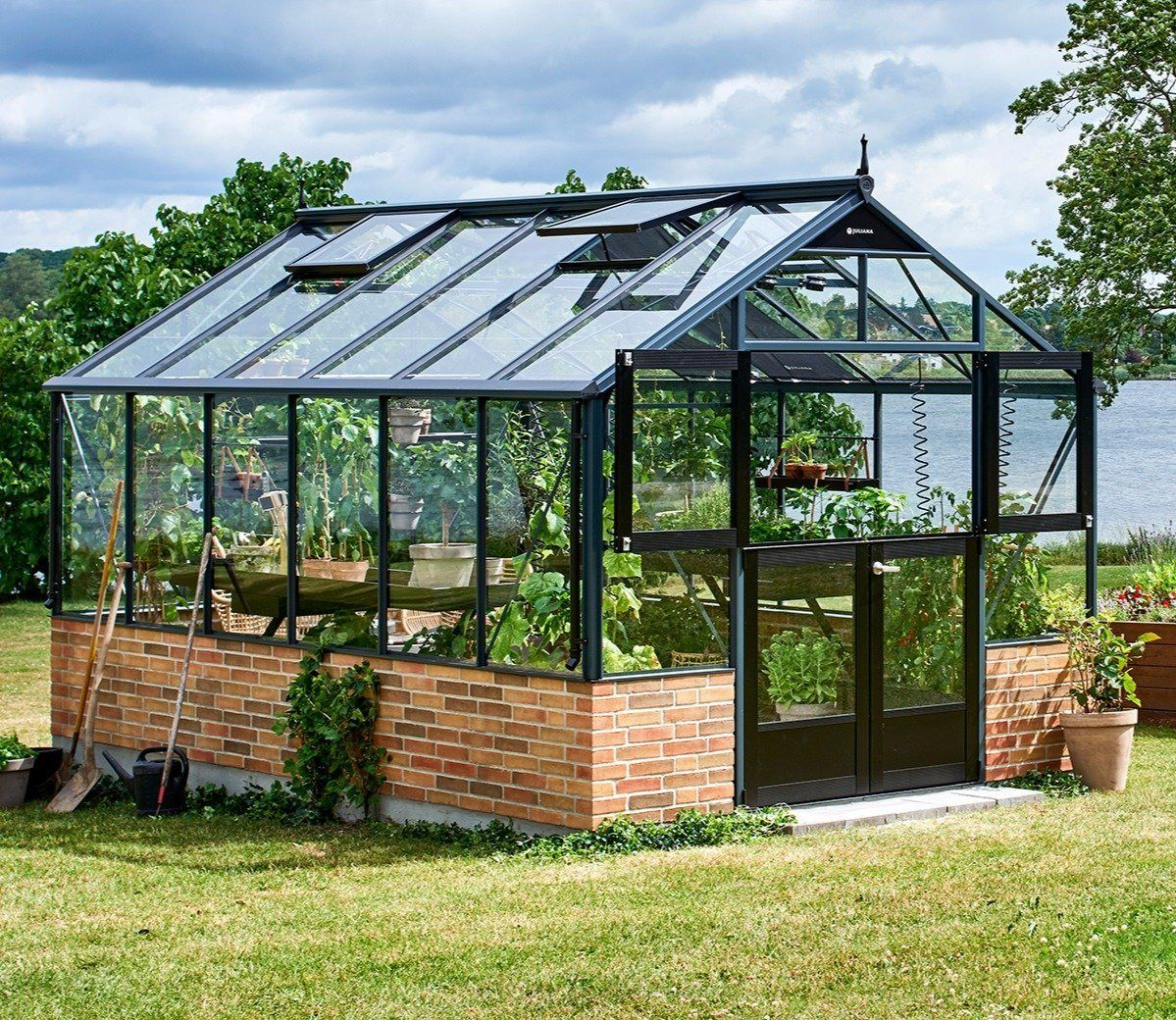 Juliana Premium Dwarf Wall 9 x 14 ft Greenhouse | Backyard ...