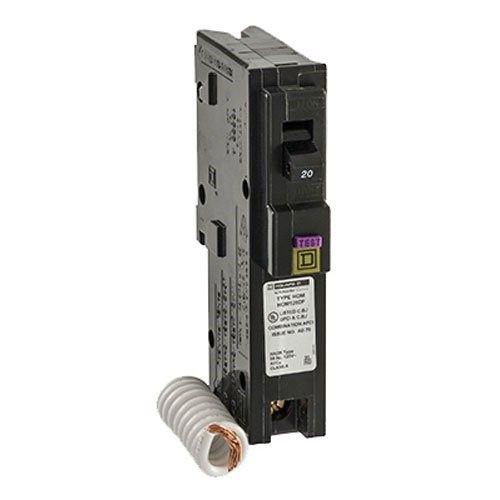 Square D By Schneider Electric Hom120dfc Homeline 20 Amp Single Pole Dual Function Circuit Breaker 1 Inch Format As Shown Circuit Gadget World Electrical Supplies