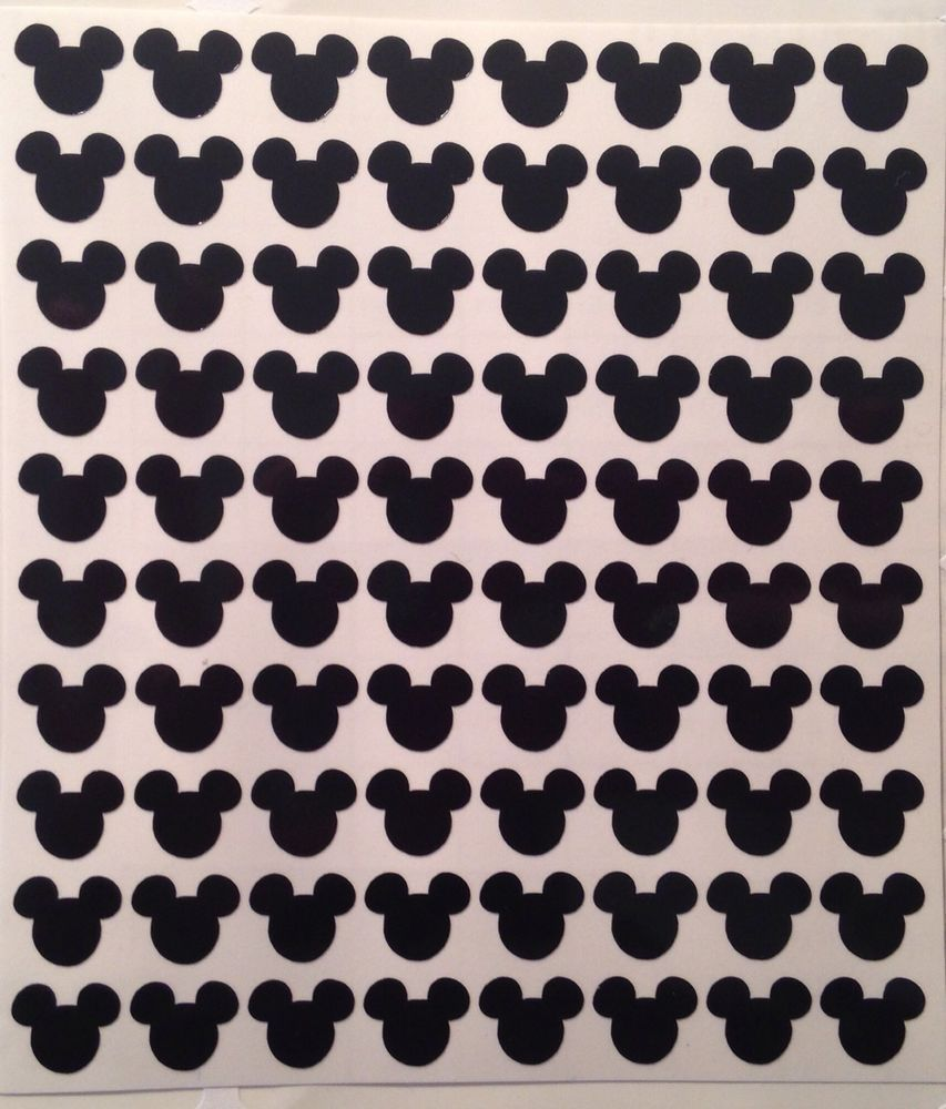 Mickey or Minnie Mouse Nail Stickers - 80 Stickers Per Sheet, Disney ...