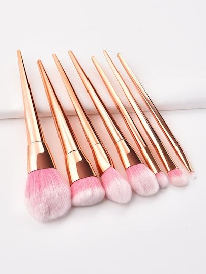Photo of Brocha de maquillaje metálica 7 piezas