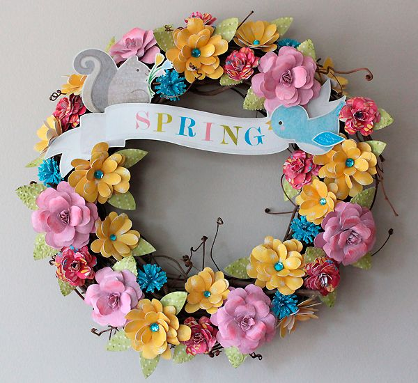 Sweet Diy Cricut Easter Projects Paper Flower Wreaths Paper
