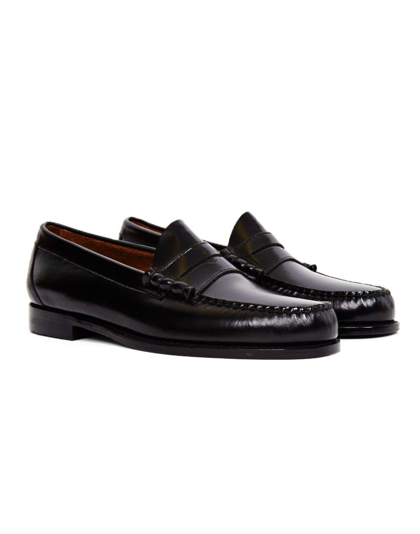 cbe3d805018 Shop for a pair of G.H. Bass   Co. Weejuns Classic Penny Loafer in black.  Available at menswear retailer The Idle Man.