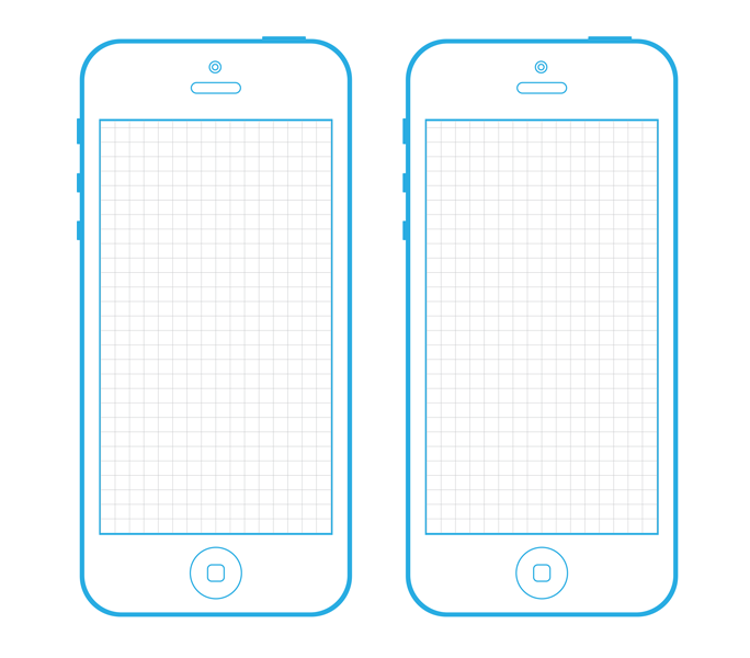 Iphone 5 wireframe template for your next project for Iphone 5 sticker template