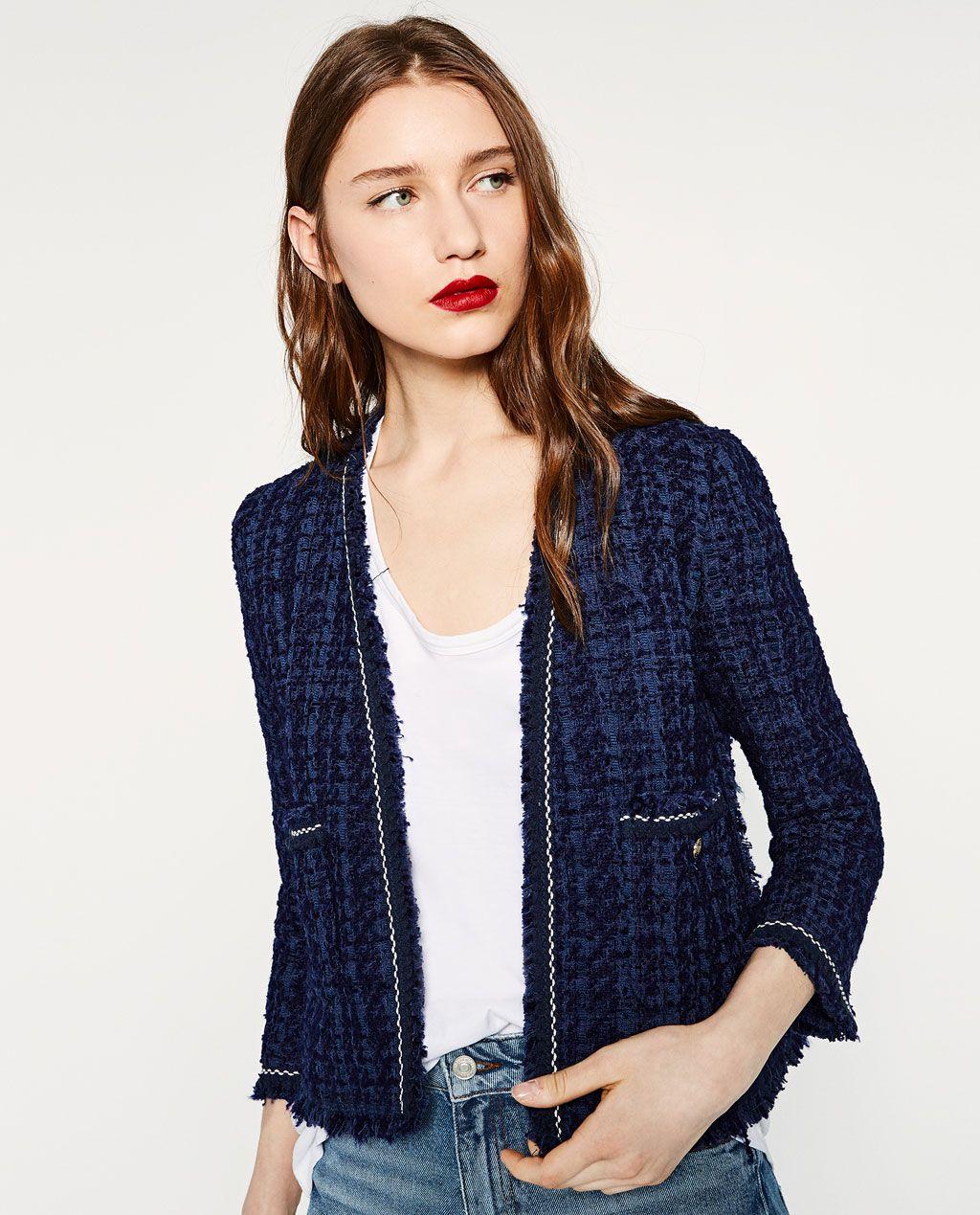 tweed jacket blazers woman zara united states fashion pinterest tweed jackets zara. Black Bedroom Furniture Sets. Home Design Ideas