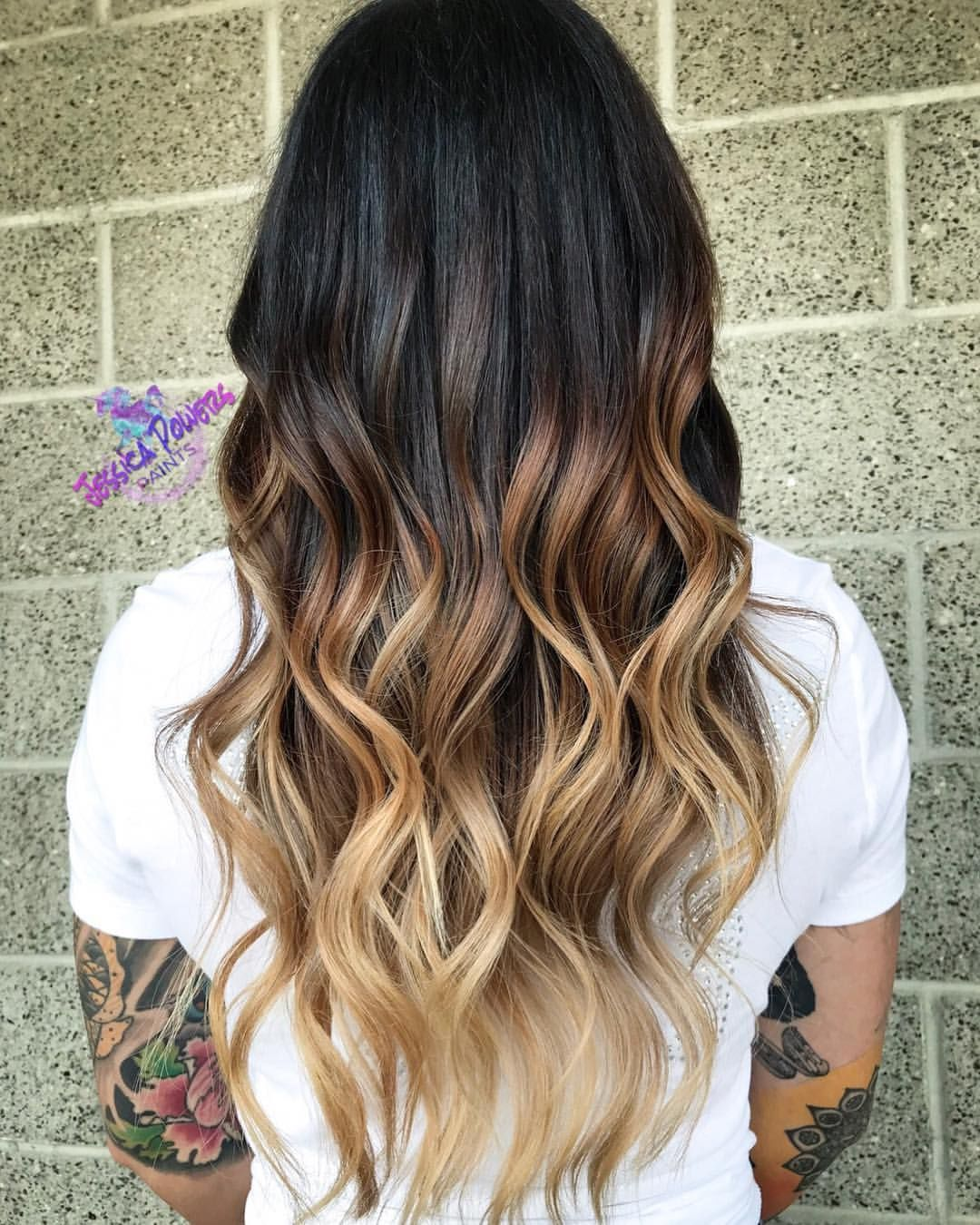 High Contrast Balayage Ombre Blonde Ombre On Naturally Dark Long Hair Ombre Hair Blonde Dark Ombre Hair Long Ombre Hair