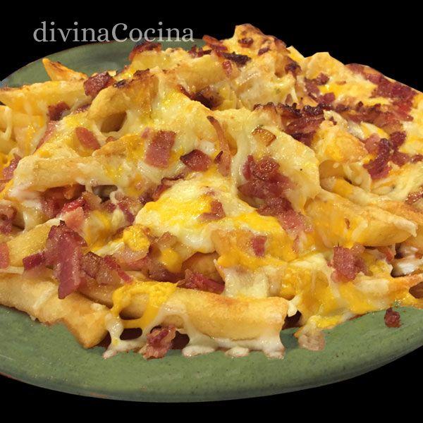 patatas-foster-en-un-platoELABORACIÓN Freímos las patatas en aceite de  oliva y las escurrimos un poco sobre papel de cocina. Aun calientes las  salpimentamos ... 426136717fe4