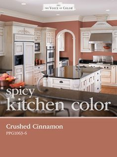 Crushed Cinnamon Will Add More Than Just Spice To Your Kitchen This Muted Red Tone Is Soft Yet Intense When Paired With White Cabinets And Black Granite