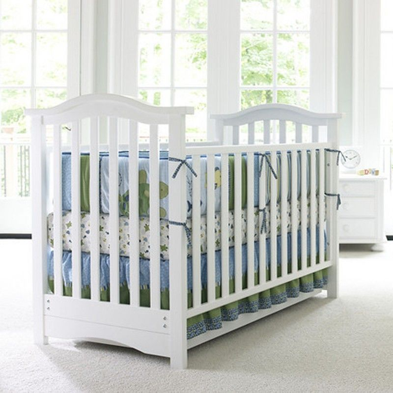 Hudson Classic Crib By Bonavita Shown In Classic White With