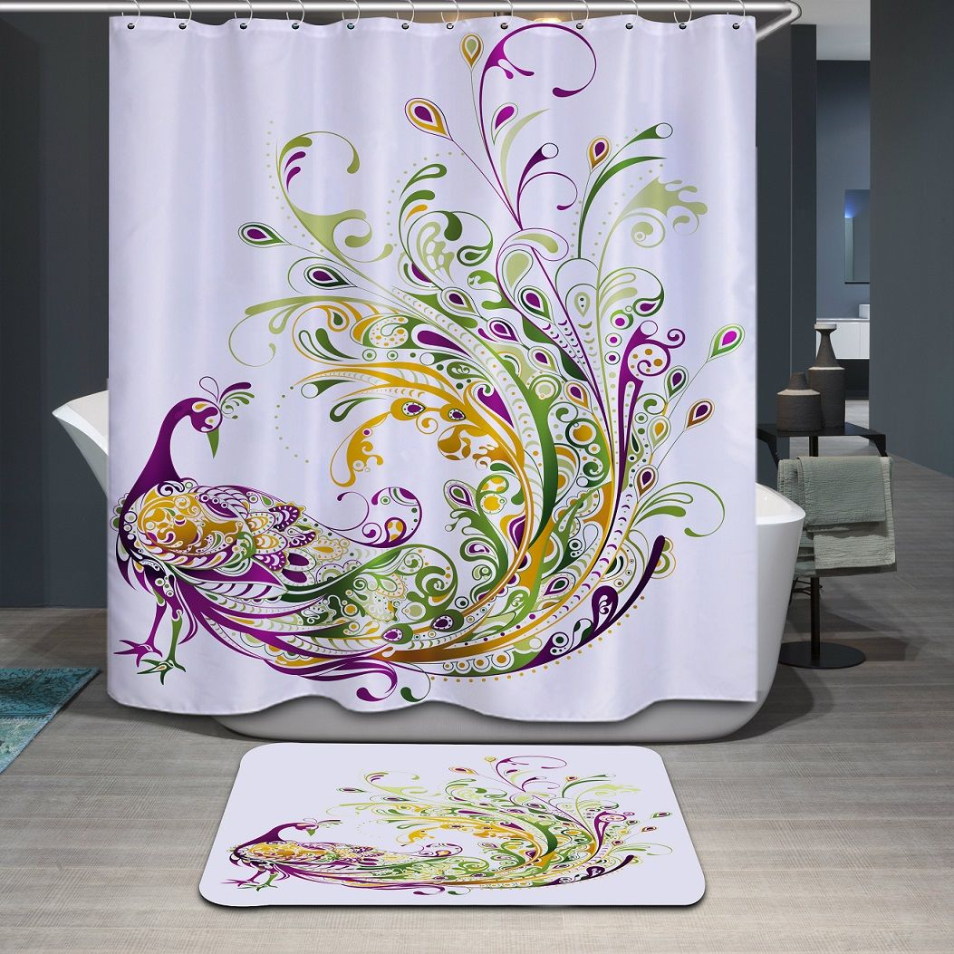 Peacock Prince Characteristic Boutique Shower Curtain Elegant