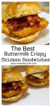 Sandwich de pollo crujiente