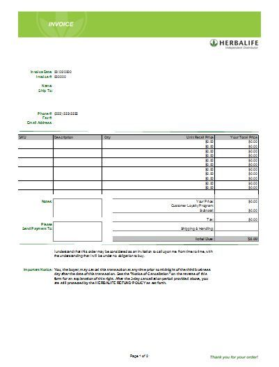 Excel Business Invoice Example  Business Invoice Template To