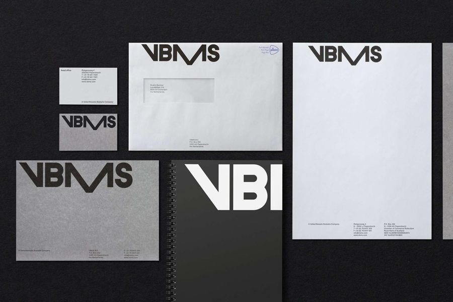 VBMS logo, visual identity and stationery by Studio Dumbar.