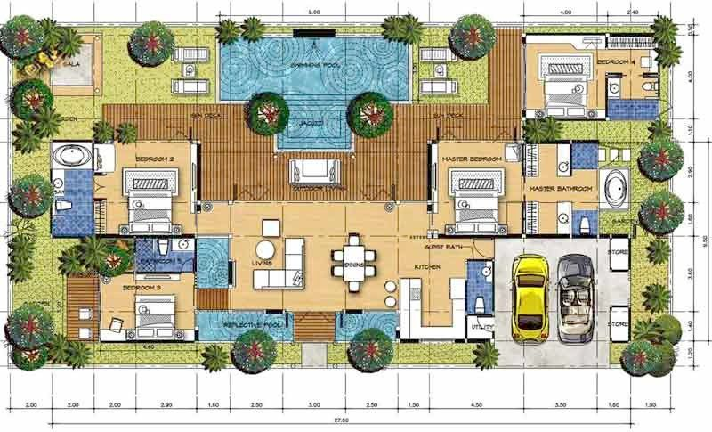 Exceptional Bali Style House Plans House For Sale By Owner Watergarden Villa Pool Garden Bali Style House Bali Style Home Bali House House Plans