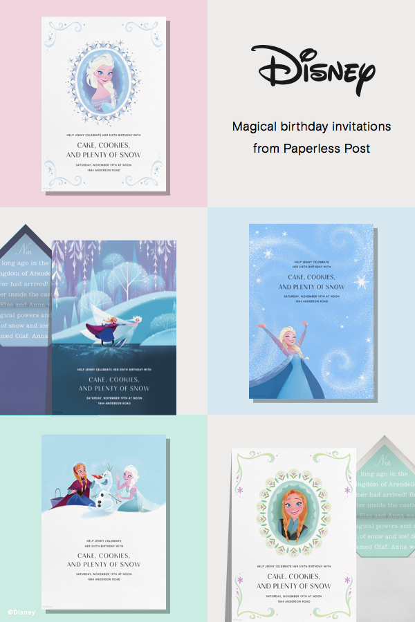 Frozen invitations by Paperless Post. Online Disney invitations ...