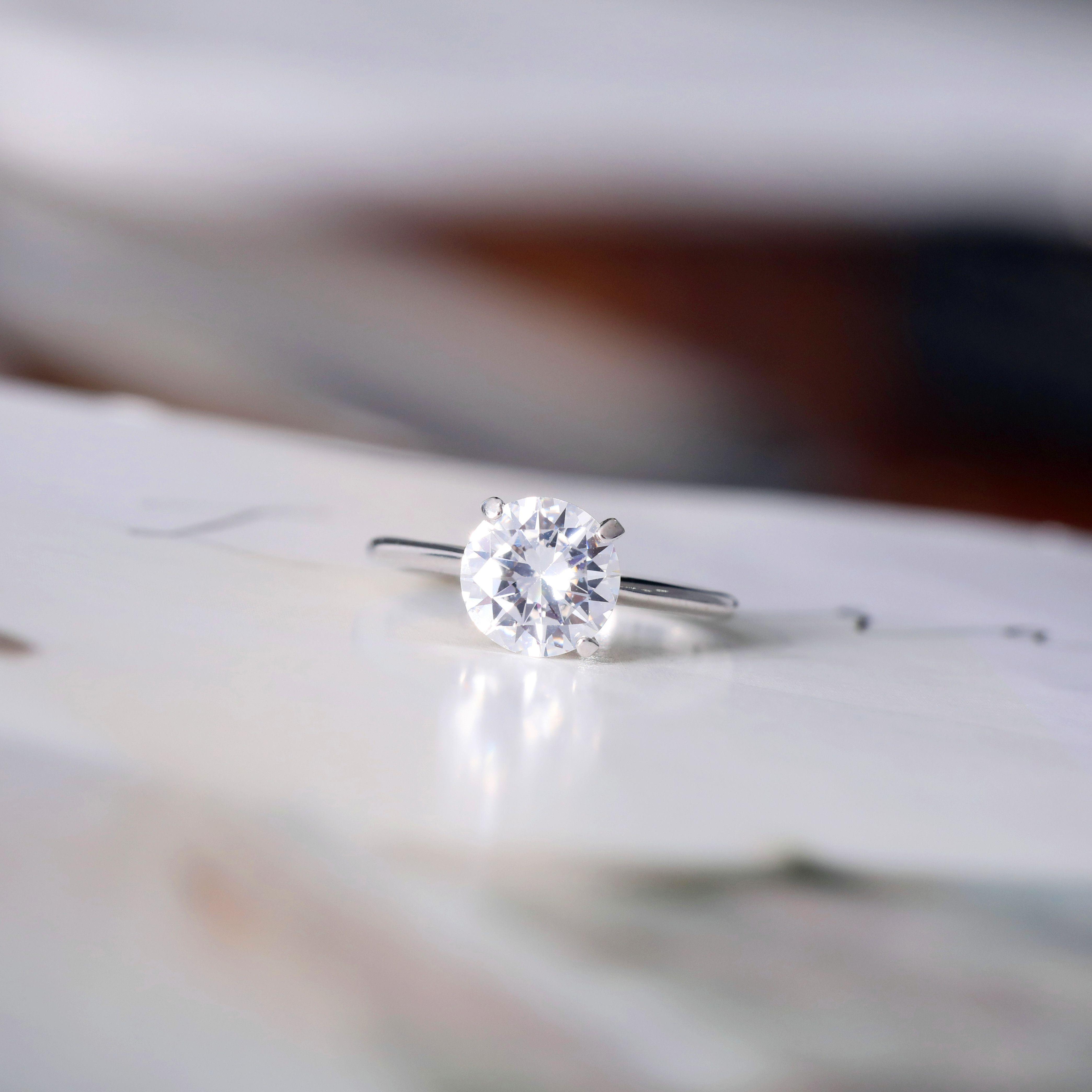 Cubic Zirconia Wedding Rings Sterling Silver Four Claws Sterling Silver Wedding Rings Cubic Zirconia Wedding Rings Wedding Rings For Women