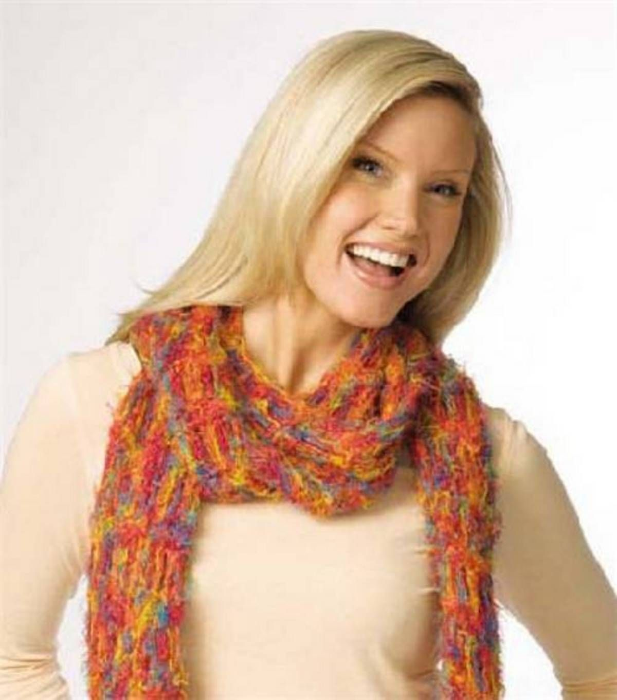 Knitted Open Weave Scarf at Joann.com