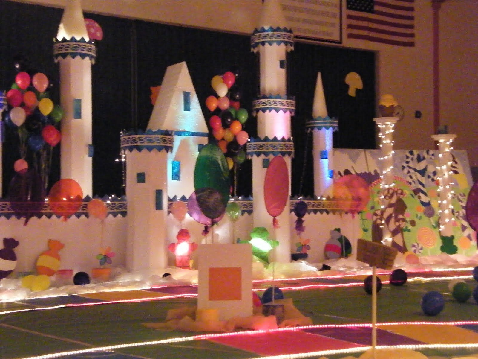 Prom ideas candyland | The prom theme was Candyland and here is the very cool castle & Prom ideas candyland | The prom theme was Candyland and here is the ...