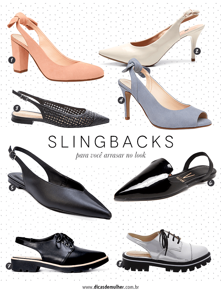 6eea65fce7 Sapato slingback  como criar looks elegantes e confortáveis com o modelo