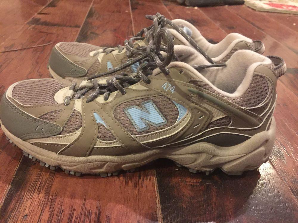 e12738437913c New Balance 474 All Terrain Womens 8.5B Wide Tan Gray Trail Walking Shoes # NewBalance #WalkingHikingTrail