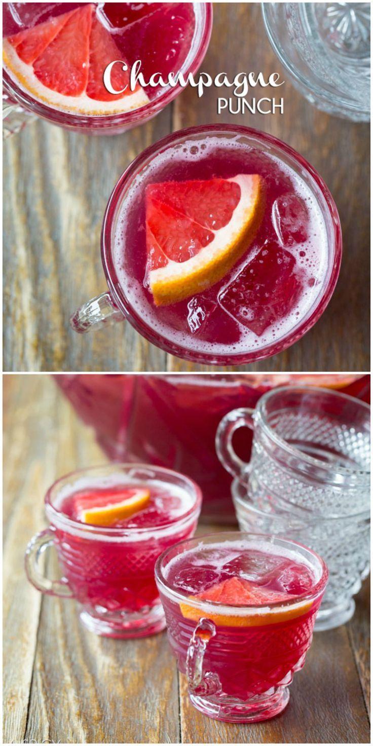 New Years Eve Champagne Punch   Rezept   Pinterest   Silvester ...