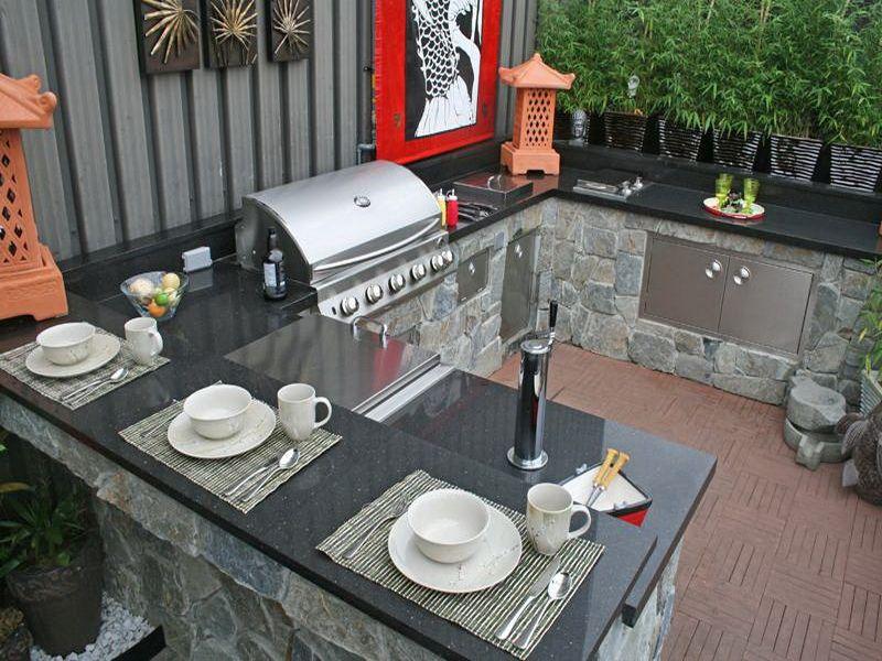 Outdoor Kitchen Countertops Ideas Outdoor Kitchen Countertops