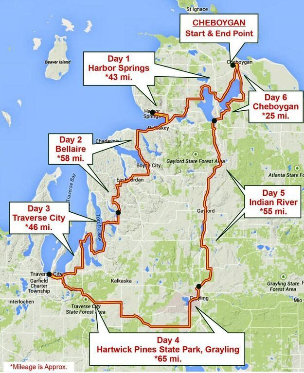 For My Biking Bucket List Michigander Bike Tour Draws Riders From - Map my bike