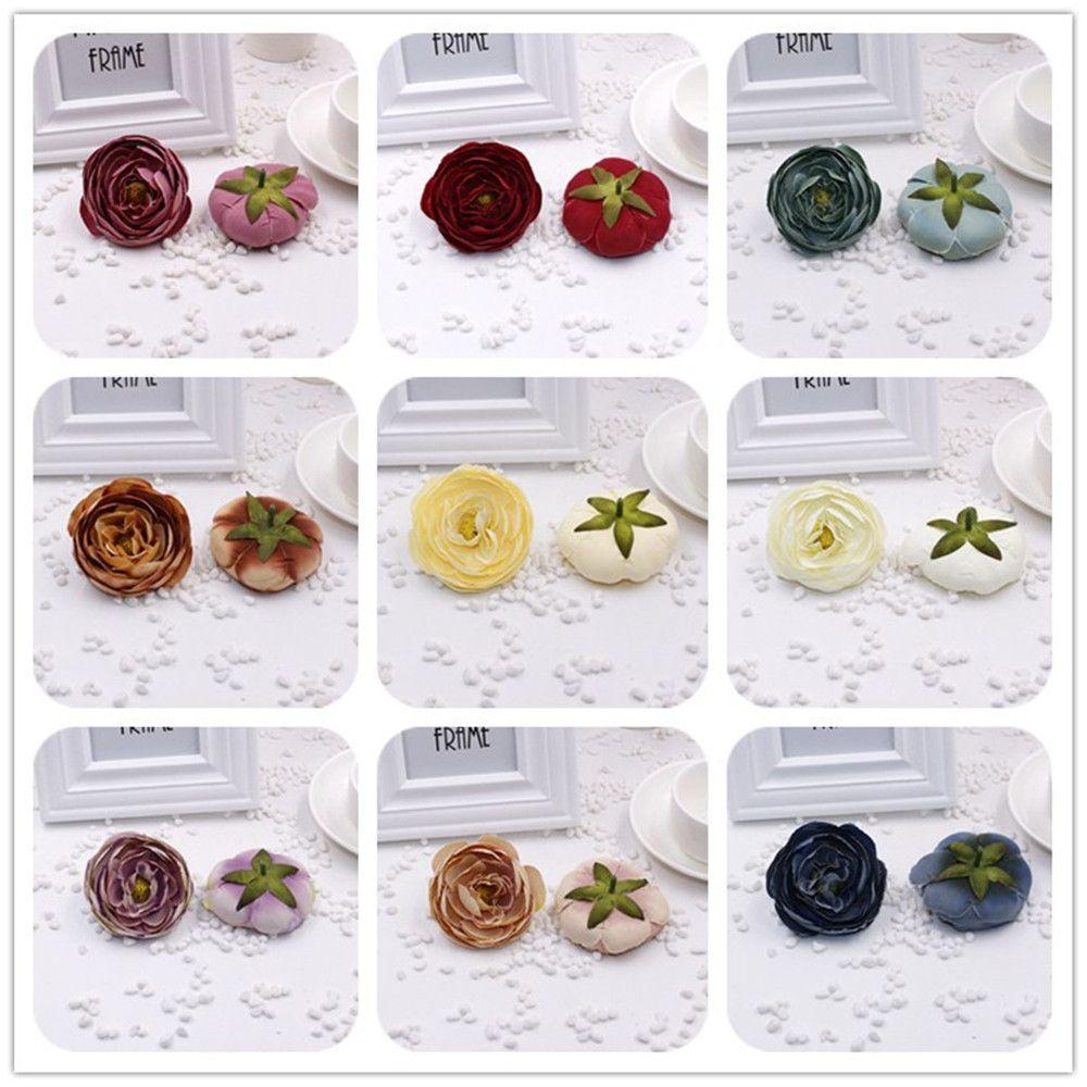 2pcslot Cheap Silk Peony Artificial Silk Flowers Bouquet Wedding