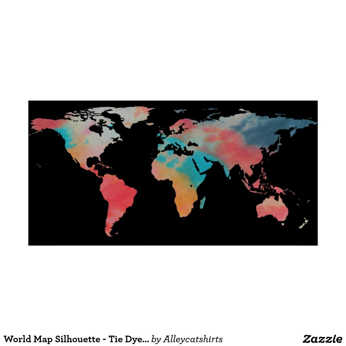 World map silhouette tie dye colors poster tie dye colors color world map silhouette tie dye colors poster gumiabroncs