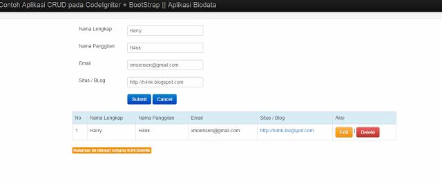 H4nk Blogs: Membuat CRUD dengan CodeIgniter + Bootstrap