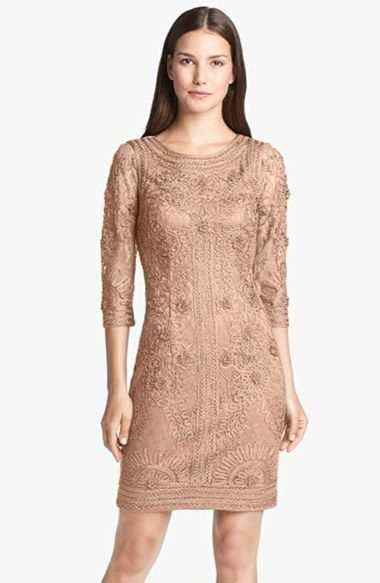 Sue Wong Ribbon Trim Illusion Bodice Dress Available At Nordstrom