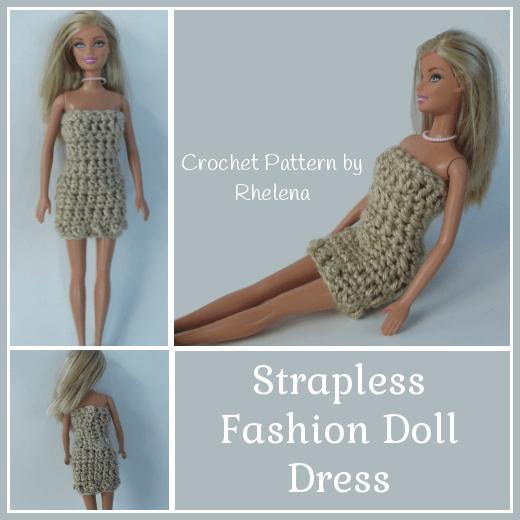 Strapless Fashion Doll Dress   crocheting -so many ideas   Pinterest ...
