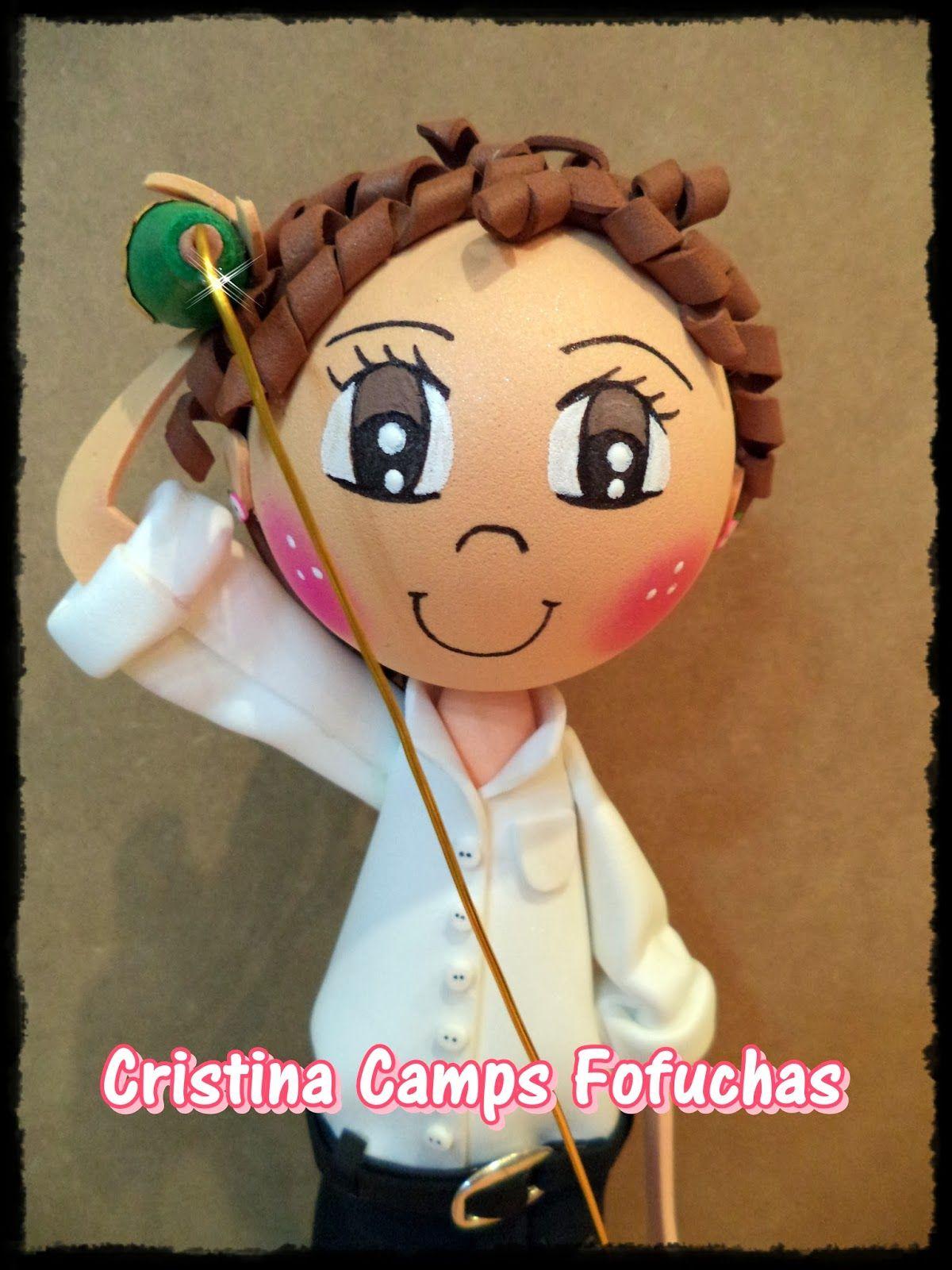 Cristina Camps Fofuchas: Fofucha escanciando sidra.