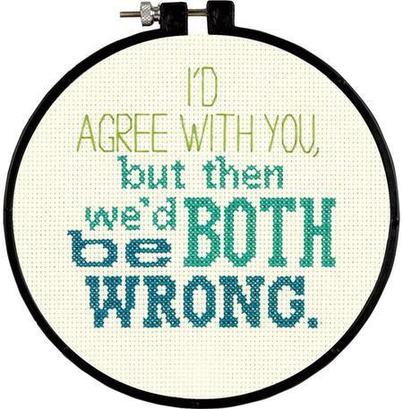 Stitch Wits I'd Agree - Cross Stitch Kit