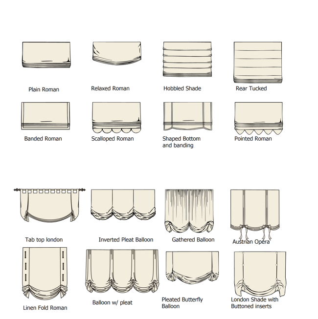Types And Styles Of Window Shades Relaxed Roman Shade Curtains